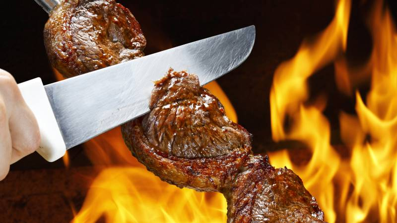 Picanha, traditional Brazilian barbecue. © lcrribeiro33@gmail / Fotolia